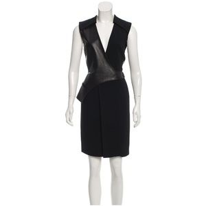ALEXANDER WANG Leather Trimmed Dress - S